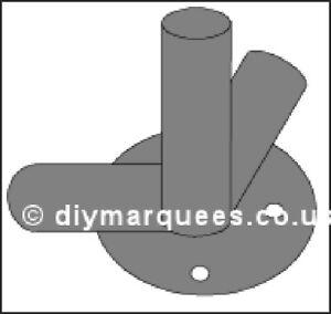 Marquee Knuckle (6m): 90° Corner foot plate 54mm Steel