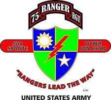 75TH RANGER REGIMENT & OPERATION DESERT STORM VETERAN  2-SIDED SHIRT