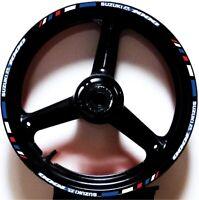 REFLECTIVE RED WHIT BLUE GP RIM STRIPES WHEEL DECALS TAPE USA STICKER GSXR 1000