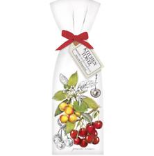 "New MARY LAKE THOMPSON 30""x30"" Flour Sack Towel Botanical Cherries set/2"