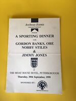 World Cup 1966 Autographes Gordon Banks, Nobby Stiles & George Cohen