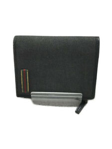 Gucci Old Gucci/Sherry Line Logo/2-Fold Wallet/Canvas/Gry/92747-3661