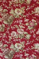 """French Antique 19thC Home Dec Cotton Floral Botanical Fabric~1yd9""""LX31""""W~"""
