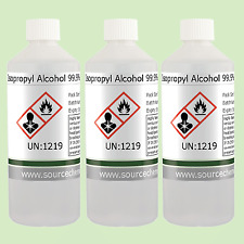 Isopropyl Alcohol (Isopropanol) 99.9% 3 x 500ml (1.5L) Including Delivery