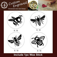 1pc of Honey Bee Wax Seal Stamp Branding Iron + 1pc Wax Stick