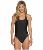 Speedo Women Solid Super Pro - Pro LT Durable One Piece Swimsuit Black 12/38