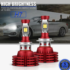 2PC H7 LED Headlight Bulbs Kit 1280W 192000LM Low Beam Yellow White OSRAM Canbus