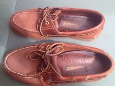 TIMBERLAND Dark Tan Boat Shoe size  8