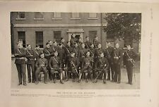 1902 PRINT ~ CANADIAN VOLUNTEER MILITIA OFFICERS OF THE REGIMENT NAMED