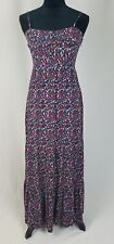 Fossil women XS fitted flare maxi dress spaghetti straps