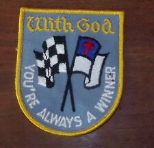 With God You're Always A Winner Racing Patch (#371R)