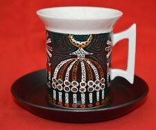 VINTAGE PORTMEIRION:  1960s 'MAGIC CITY' CUP & SAUCER - CLEAN CONDITION - FLAWED