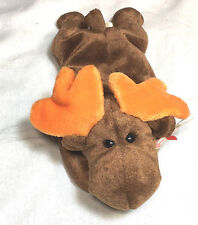 Ty Beanie Baby, Chocolate the Moose, original, retired, 1993