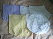 brand new sloggi ladies full briefs size 12 x 5 pairs cotton