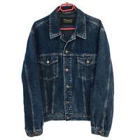 Wrangler Dark Blue Classic Vintage Western Denim Jeans Jacket Size L
