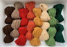 Autumn DK Yarn Wool New Job Lot Double Knitting Crochet Craft Toy Pompom Bundle