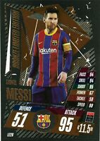 2020/21 Match Attax UEFA - Lionel Messi Bronze Limited Edition LE2B Barcelona