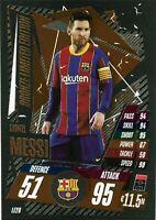2020/21 Match Attax UEFA - Lionel Messi Bronze Limited Edition LE2B Barcelona