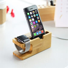 Station d'accueil Apple watch & iphone 6 7 plus S 100% naturel bambou dock stand