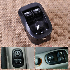 Power Window Switch Master Electric Mirror Button Black 6554.WA Fit Peugeot 206