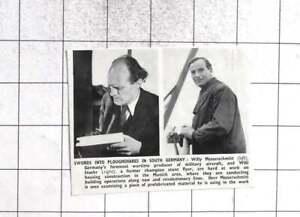 1949 Willy Messerschmitt And Willi Stoehr Building Houses Munich