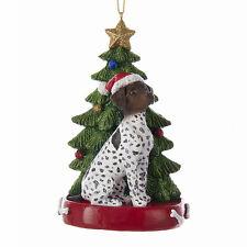 German Shorthair Pointer w/Tree Ornament