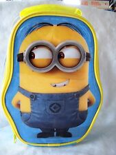 Despicable Me Minion Dave Shaped Insulated Lunch Bag School Picnic + Name Tag