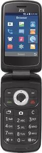 ZTE Z233VL | Total Wireless | Prepaid Flip Phone | 4 GB | Dark Gray | Brand New