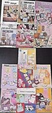 13 Lot Counted X Stitch Pattern Books 4 Baby Samplers,Pillows,Clothing,Toys