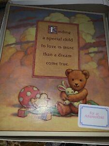 Vintage Hallmark Teddy Bears Adoption Keepsake Album Baby Book- New No Box Low $