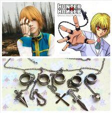 Japan Anime HUNTER x HUNTER Kurapika Cosplay Finger Rings with Chains Pendants