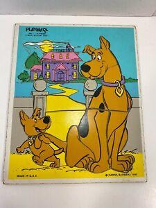 Vintage Scooby & Scrappy Doo Wooden Puzzle 340-1 Playskool 1980