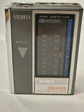 Vintage Aiwa portable Stereo cassette  HS-P06 ( Tested Working) made in Japan