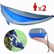 Outdoor Lightweight Portable Nylon Hammock For Backpacking Camping Garden Oy