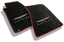 NEW! BLACK FLOOR MATS 2004-08 Chrysler CROSSFIRE Embroidered Script & Logo RED