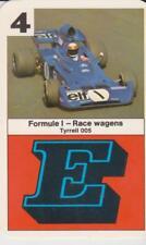 Kwartet kaart / Quartet Card / Spielkarte Formule 1 Race Cars Tyrrell 005