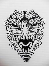 Aztec totem mask myths Magic stickers/car/van/bumper/window/decal 5292 Black