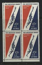 Scotts #C56  10c  PAN AMERICAN AIR MAIL Stamp Block
