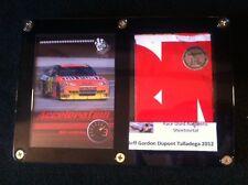Jeff Gordon Card Display & Race Used Metal: Actual NASCAR Race Car at Talladega!