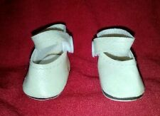 "1.75"" LONG OFF WHITE (CREAM) PLASTIC SNAP,  DOLL SHOE."