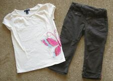 Gap Woodstock globemapper glam canyon butterfly brown capri pants top shirt 6 7