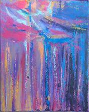 TABLEAU ABSTRAIT art contemporain, peinture de HZEN, paysage - LA PINEDE- 41x33