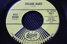 """HYLO BROWN 45rpm """"Cocaine Blues"""" & WILLIS BROTHERS """"Tattooed Lady"""" Starday"""