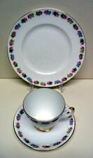 ROYAL IMPERIAL-TRIO- FINEST BONE CHINA-DESSERT PLATE-CUP&SAUCER-VINTAGE-ENGLAND