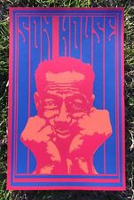 Son House Poster, Screen Printed Psychedelic, Delta Blues