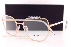 Brand New Prada Eyeglass Frames PR 60WV SVF Rose Gold For Women Size 55mm