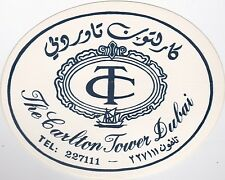 Dubai Carlton Tower Vintage Luggage Label lbl0648