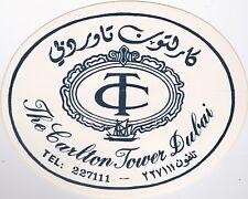 Dubai Carlton Tower Vintage Luggage Label lbl0648