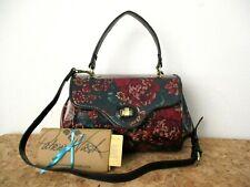 Patricia Nash Ardesia Floral Tapestry Leather Frame Satchel Shoulder Strap $249