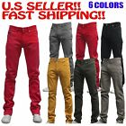 MEN Jeans Slim STRETCH FIT SLIM FIT Casual Pants SKINNY AKADEMIKS STYLE 7 COLORS
